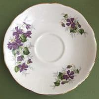 Duchess China - Violets - Cup and Saucer Duo x 3  and  Jug - 1960s